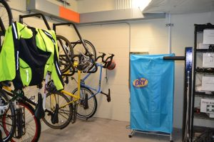 drying racks are celebrated by bike commuters