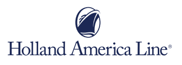 Holland America Line Logo of a ship with an oval around it.